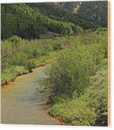 Red Mountain Creek - Colorado  Wood Print by Mike McGlothlen