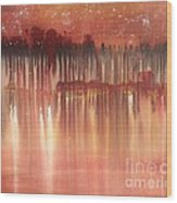 Red Night  Wood Print