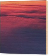 Red Night Sky By Earl's Photography Wood Print