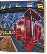 Red Niles Wood Print