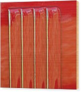 red Nova badge Wood Print