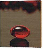 Red Nurofen Capsule Wood Print