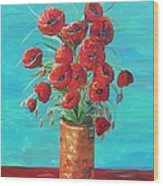 Red On My Table  Wood Print
