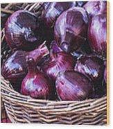 Red Onion Wood Print