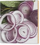 Red Onions  Wood Print