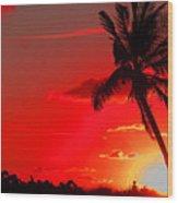 Red Palm Wood Print