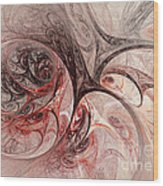 Red Passion - Abstract Art Wood Print