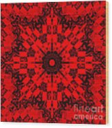 Red Patchwork Art Wood Print