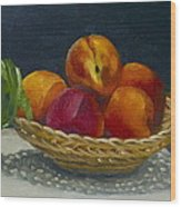 Red Peaches Wood Print