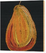 Red Pear - Delicious Modern Fruit Food Art Print Wood Print