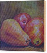 Red Pears Five Wood Print