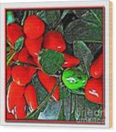 Red Pepper Plant Wood Print