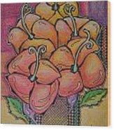 Red Petals Wood Print