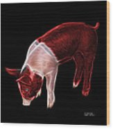Red Piglet - 0878 F Wood Print