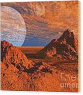 Red Planet Wood Print