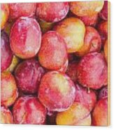 Red Plums Wood Print