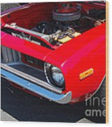 Red Plymouth Barracuda Wood Print