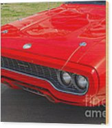 Red Plymouth Gtx Wood Print