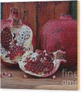 Red Pomegranate Wood Print