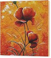 Red Poppies 023 Wood Print