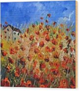 Red Poppies 562111 Wood Print