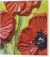 Red Poppies II Wood Print