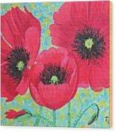 Red Poppis Wood Print