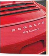 Red Porsche 911 Detail E183 Wood Print