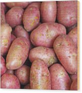 Red Potatoes Wood Print