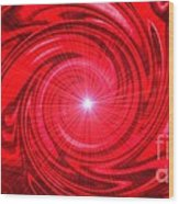 Red Pulsar 112233 Wood Print
