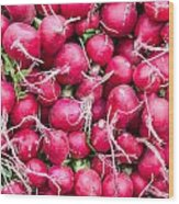 Red Radishes  Wood Print