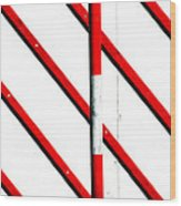 Red Red Line Wood Print