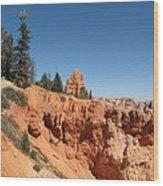 Red Red Rocks Wood Print
