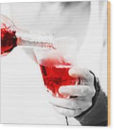 Red Red Wine Wood Print by Jenny Rainbow