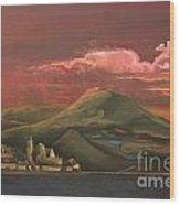 Red Rhine Wood Print