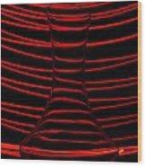 Red Rhythm Wood Print