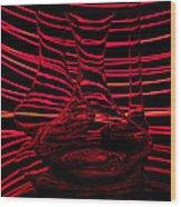 Red Rhythm IIi Wood Print