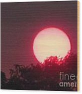 Red Ring Sunset Two Wood Print
