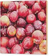 Red Ripe Plums Wood Print