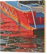 Red Rippling Wood Print