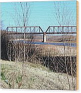 Red River I 35 Train Trussell Wood Print