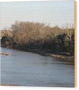 Red River Looking East Wood Print
