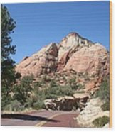 Red Road Zion Park Wood Print