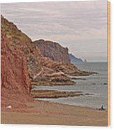 Red Rock By Sea Of Cortez From San Carlos-sonora Wood Print