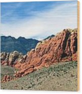 Red Rock Canyon Wood Print by Andrea Dale
