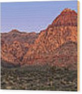 Red Rock Canyon Pano Wood Print by Jane Rix