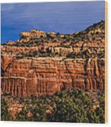 Red Rock Crag Wood Print