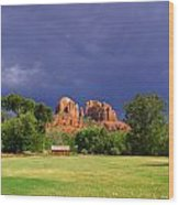 Red Rock Crossing Park Wood Print