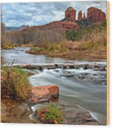 Red Rock Crossing Wood Print