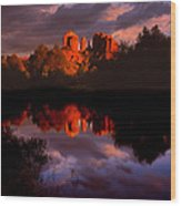 Red Rock Crossing Sedona Wood Print by Ray Mathis